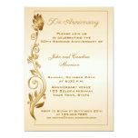 50.o El aniversario enrolló floral Anuncios Personalizados