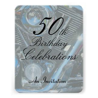 50 o El cumpleaños metálico invita Anuncios Personalizados