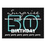 50.o El negro azul de la fiesta de cumpleaños de l Invitaciones Personalizada