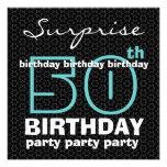 50.o El negro azul de la fiesta de cumpleaños de l Comunicados Personalizados
