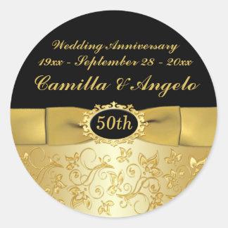 50 o El oro del aniversario ennegrece 1 5 pegati
