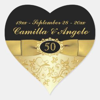 50 o El oro del aniversario y ennegrece 1 5 pegat