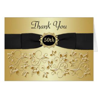 50.o El oro negro del aniversario floral le agrade Felicitacion