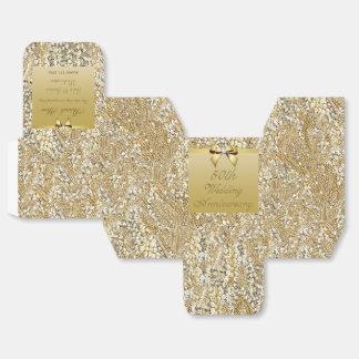 50.o El personalizado del aniversario de boda del Caja Para Regalos De Fiestas