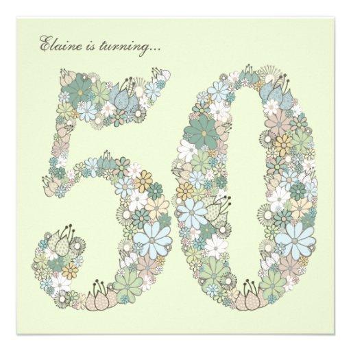 50.o El verde azul de la fiesta de cumpleaños flor Comunicado