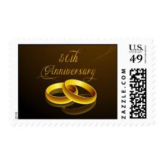 50 o Escritura del oro del aniversario el