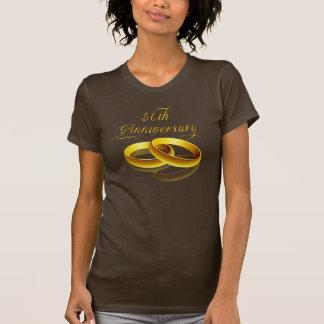 50 o Escritura del oro del aniversario el Camisetas