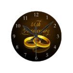 50.o Escritura del oro del aniversario el | Reloj