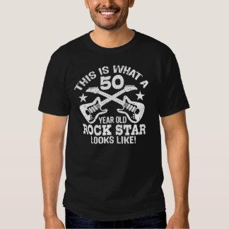 50.o Estrella del rock del cumpleaños Playeras