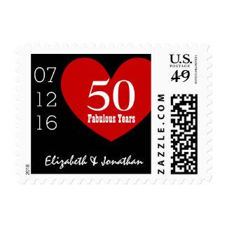 50.o Fecha conocida de encargo V01 del corazón Franqueo