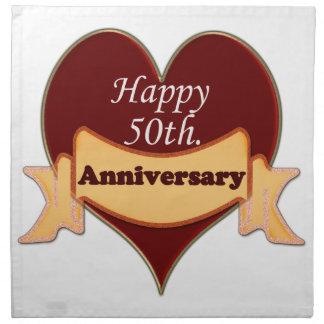 50.o feliz. Aniversario Servilletas