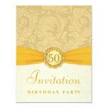 50.o Fiesta de cumpleaños - damasco del oro con el Comunicados Personales