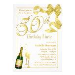 50.o Fiesta de cumpleaños de la sorpresa - invitac Invitaciones Personales