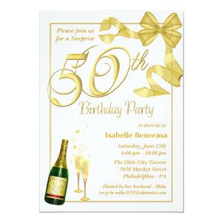 """50.o Fiesta de cumpleaños de la sorpresa - Invitación 5"""" X 7"""""""