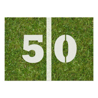 50 o ¡Fiesta de cumpleaños Invitacion Personalizada