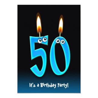 """50.o Fiesta de cumpleaños Invitación 5"""" X 7"""""""