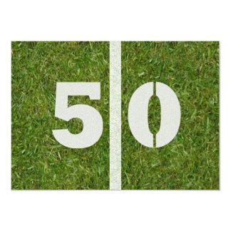 """50.o ¡Fiesta de cumpleaños! Invitación 5"""" X 7"""""""