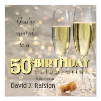 50 o Fiesta de cumpleaños - invitaciones personali