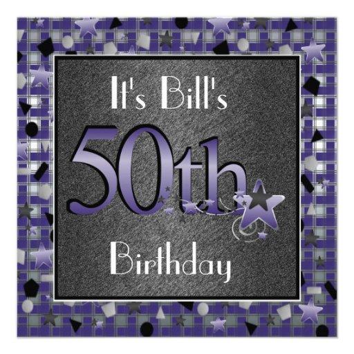 50.o Fiesta de cumpleaños InvitationPERSONALIZED Comunicado