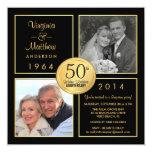 50.o Fiesta de sorpresa del aniversario de boda de Invitación Personalizada