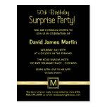 50.o Fiesta de sorpresa del cumpleaños - invitacio