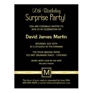50.o Fiesta de sorpresa del cumpleaños - invitacio Tarjetas Postales