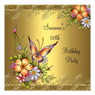 50 o Flores elegantes del amarillo del rosa del or Comunicado Personal