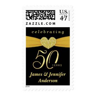 50.o Franqueo de la fiesta de aniversario del boda Sellos