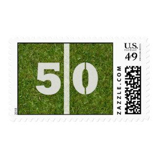 50.o Franqueo de la yarda del fútbol de la yarda Sello