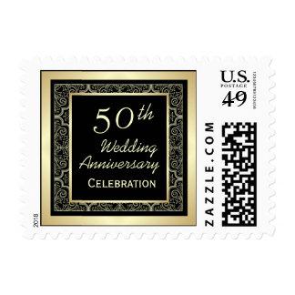 50.o franqueo de oro del aniversario de boda