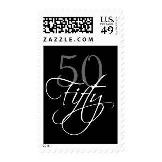 50.o franqueo negro de la fiesta de cumpleaños del