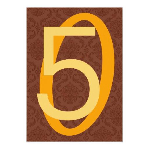 50.o Granes números oro y Brown W965 del Anuncios Personalizados