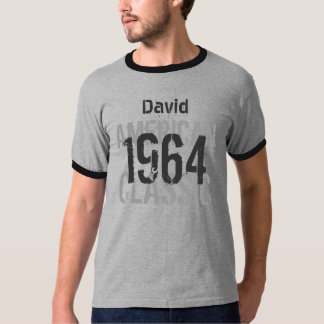 50.o Gris clásico americano del cumpleaños 1964 Camisas