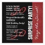 50.o Grunge negro y rojo del cumpleaños de la SORP Invitacion Personal