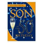 50.o Hijo del cumpleaños - vidrio de Champán