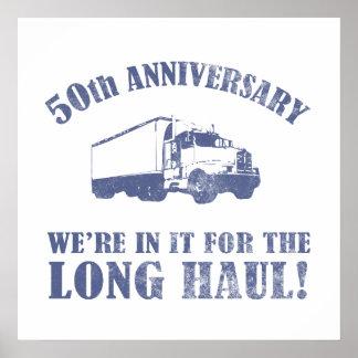 50 o Humor del aniversario largo trayecto Poster