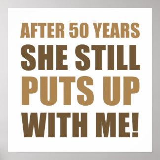 50.o Humor del aniversario para los hombres Póster