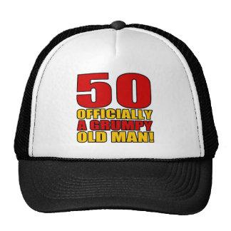 50.o humor gruñón del cumpleaños gorra
