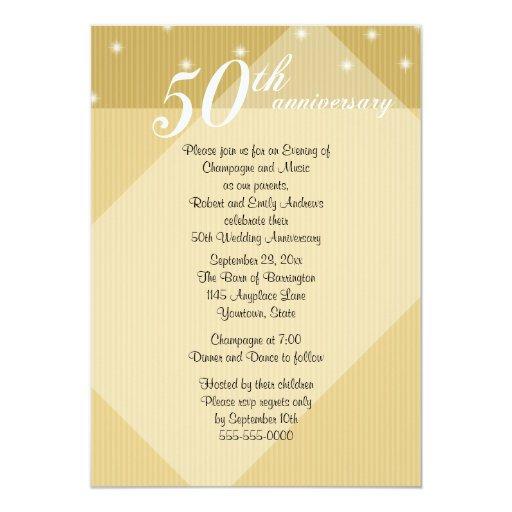 50.o Invitación de la cena del aniversario