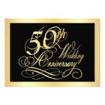 50.o Invitación de la fiesta de aniversario - oro