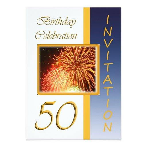 50.o Invitación de la fiesta de cumpleaños