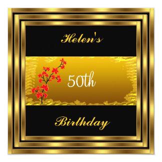 50.o Invitación de la fiesta de cumpleaños del oro