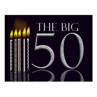 50.o Invitación de la postal del cumpleaños - modi