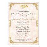 50.o Invitación de los anillos de bodas del