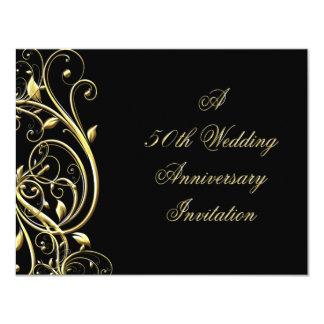 50.o Invitación del aniversario de boda