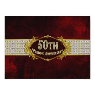 50.o Invitación del aniversario de boda con clase
