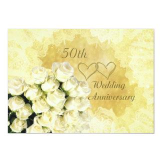 50.o Invitación del aniversario de boda con los