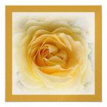 50.o Invitación del aniversario - oro suave subió Invitación 13,3 Cm X 13,3cm