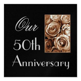 50.o Invitación del aniversario - rosas del ORO