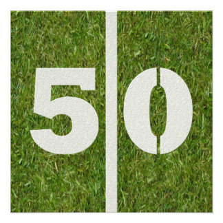 50 o Invitación del cumpleaños
